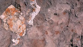 Sedlmentary rock from above with room for text Stock Photography