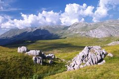 Sedlo山和在波黑 免版税库存图片