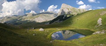 Sedlo山和Jagodino湖在波黑 免版税库存照片