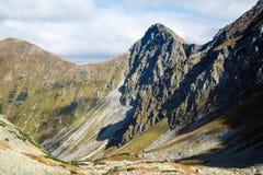 Sedlo Smutne на горах Tatra Стоковые Изображения