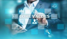 Sedno Ceni Odpowiedzialności Etyki Cele Firma pojęcie zdjęcia stock