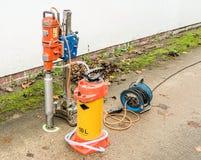 Sedno wiertnicza maszyna dla use na betonowej płycie Zdjęcia Royalty Free