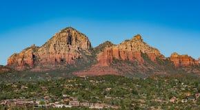 Sedona,亚利桑那沙漠山  库存图片