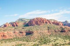 Sedona, AZ红色岩石  图库摄影