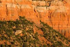 砂岩细节分层堆积- Sedona,亚利桑那 免版税图库摄影