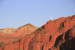 Sedona Area Landscape and Moon Royalty Free Stock Photo