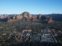 Sedona, Arizona aerial. Royalty Free Stock Photos