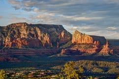 Sedona Arizona bij Zonsondergang Stock Afbeeldingen