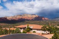 Sedona Arizona donnent sur Photographie stock libre de droits