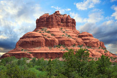 Sedona Arizona. Mountain in Sedona Arizona on a cloudy day royalty free stock images