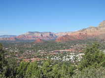 Sedona Arizona près de vortex de route d'aéroport Photos stock
