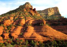 Sedona Arizona Red Rock Landscape. Beautiful red rock against a bright sky in Sedona, Arizona Royalty Free Stock Images