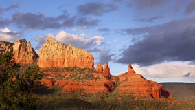 Sedona, Arizona Rock Formation, Zoom in stock video footage