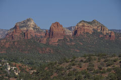 Sedona Arizona Scenic View. A scenic view of red rock formations near sedona arizona Royalty Free Stock Image