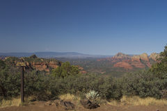 Sedona Arizona Scenic View. A scenic view of red rock formations near sedona arizona from schnebly hill vista Stock Photo