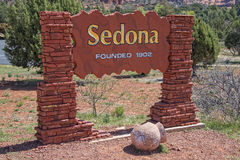 Sedona Arizona Sign. Sedona Arizona Welcome Visitors Sign Royalty Free Stock Photography