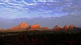 Sedona Arizona soluppgångTime-schackningsperiod arkivfilmer