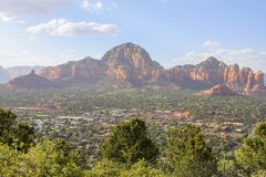 Sedona Arizona in Southwest USA. Beautiful Daytime Scenery of Sedona, Arizona royalty free stock photography