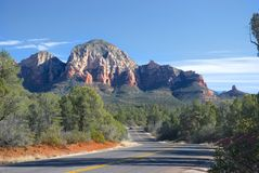 Sedona, Arizona-Straße Stockfoto