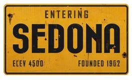 Sedona Arizona Street Sign Highway Grunge Metal. Sedona Arizona AZ street sign vintage retro grunge metal rustic antique old royalty free illustration