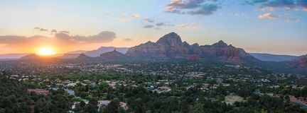 Sedona Arizona Sunrise. Beautiful Sunset Scenery of Sedona, Arizona royalty free stock image