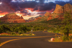 Sedona Arizona Sunrise Royalty Free Stock Photos