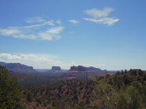 Sedona Arizona Top Of Long Canyon Trail. In sedona arizona Stock Photography