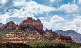 SEDONA ARIZONA/USA - JULI 30: Berg på Sedona Arizona på J Royaltyfri Foto