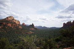 Sedona. Arizona. View on the valley. The Most beautiful hiking destinations Stock Image