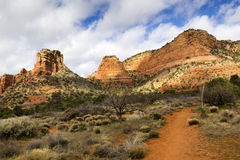 Sedona Arizona Wycieczkuje ślad Prowadzi Zadziwiające Czerwone Rockowe formacje zdjęcia royalty free