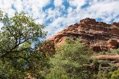 Sedona AZ红色峭壁 库存照片