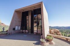 Sedona AZ, USA 5 Juli, 2016; Kapellet av det heliga korset Royaltyfri Fotografi