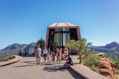 Sedona AZ, USA 5 Juli, 2016; Kapellet av det heliga korset Royaltyfri Foto