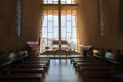 Sedona, AZ, USA 5 July, 2016; Interior of The Chapel of the Holy Cross Stock Image