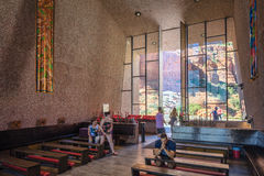 Sedona, AZ, USA 5 July, 2016; Interior of The Chapel of the Holy Cross Royalty Free Stock Photography