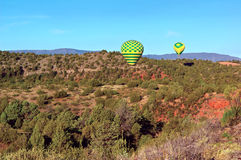 Sedona Balloon Landing Stock Photos