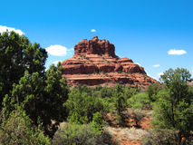 Sedona Bell Rock. With clear blue sky Stock Images