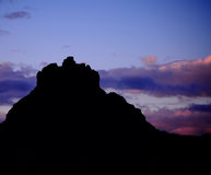 Sedona Bell Rock Sunset. Beautiful and scenic Bell Rock seen as a silhouette during sunset royalty free stock photo