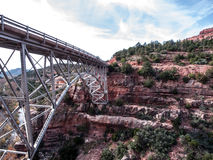 Sedona Canyon Bridge Royalty Free Stock Photos