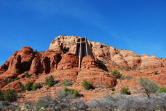Sedona Chapel. Chapel built into Sedona red rocks Stock Photography