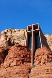 Sedona Chapel. Chapel built into Sedona red rocks Stock Photo