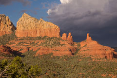 Sedona cliffs and Cloouds Royalty Free Stock Photo