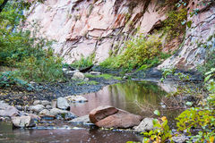 SouthWest America Arizona Sedona Creek Royalty Free Stock Photos