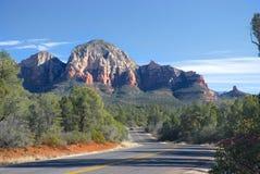 Sedona, de weg van Arizona Stock Foto