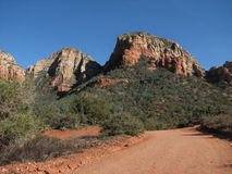 Sedona dirt road Royalty Free Stock Photos