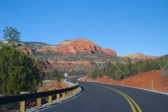 Sedona, estrada do Arizona Foto de Stock Royalty Free