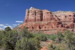 sedona för arizona domstolsbyggnadrock Arkivfoton