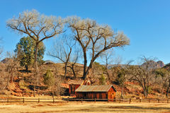 Sedona farmhouse in January Stock Photos