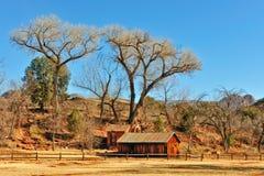 Sedona farmhouse in January. Farmhouse and landscape in Sedona, Arizona, in January Stock Photos