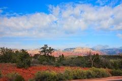 sedona för rock för arizona liggande röd Arkivfoton